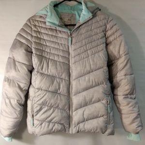 Champion hoodie puff jacket Suze XL gray & green